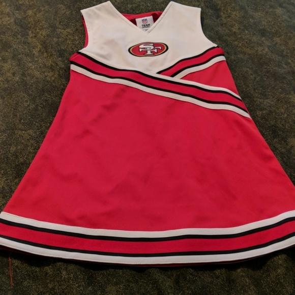 159de197 Girls 49ers cheerleader dress